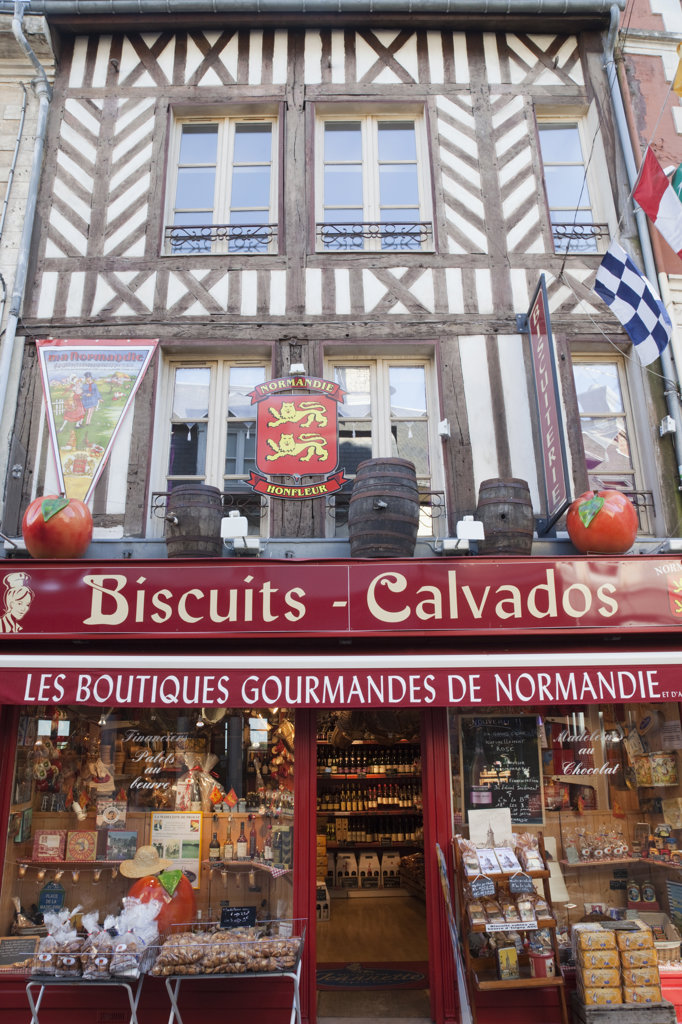 Stock Photo: 442-36033 France, Normandy, Honfleur, Shop Selling Traditional Local Produce