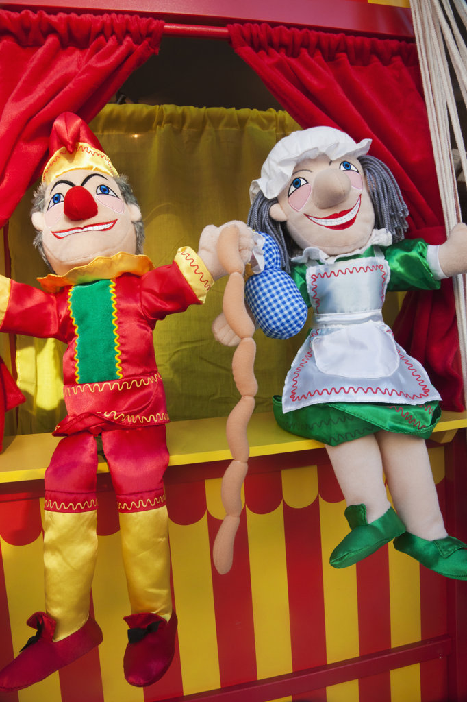 Stock Photo: 442-36301 Punch and Judy traditional puppet show, Weymouth, Dorset, England