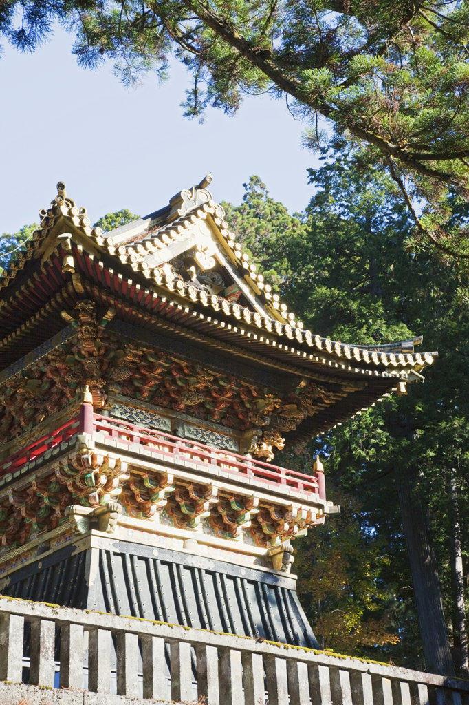 Bell tower of a shrine, Toshu-gu Shrine, Nikko, Honshu, Japan : Stock Photo