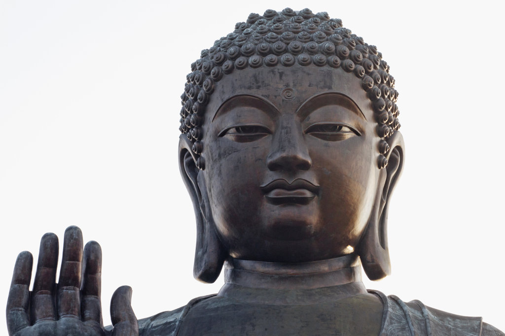 Stock Photo: 442-36741 Close-up of Tian Tan Buddha, Po Lin Monastery, Ngong Ping, Lantau, Hong Kong, China