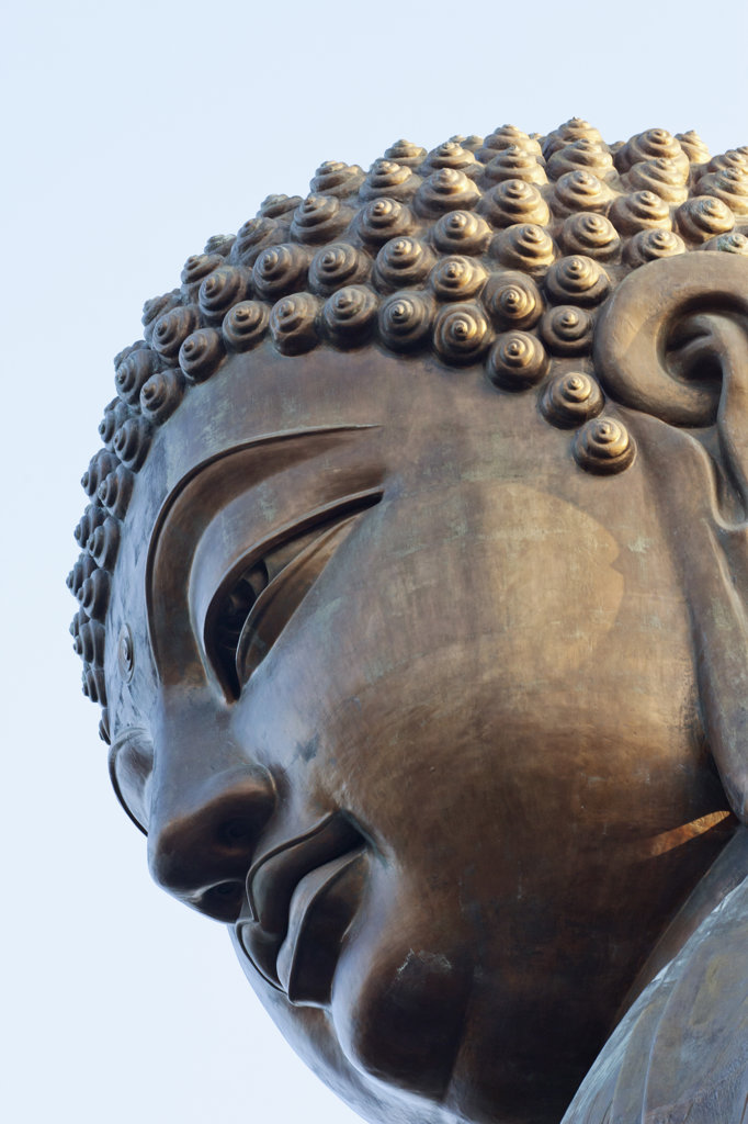 Stock Photo: 442-36744 Close-up of Tian Tan Buddha, Po Lin Monastery, Ngong Ping, Lantau, Hong Kong, China
