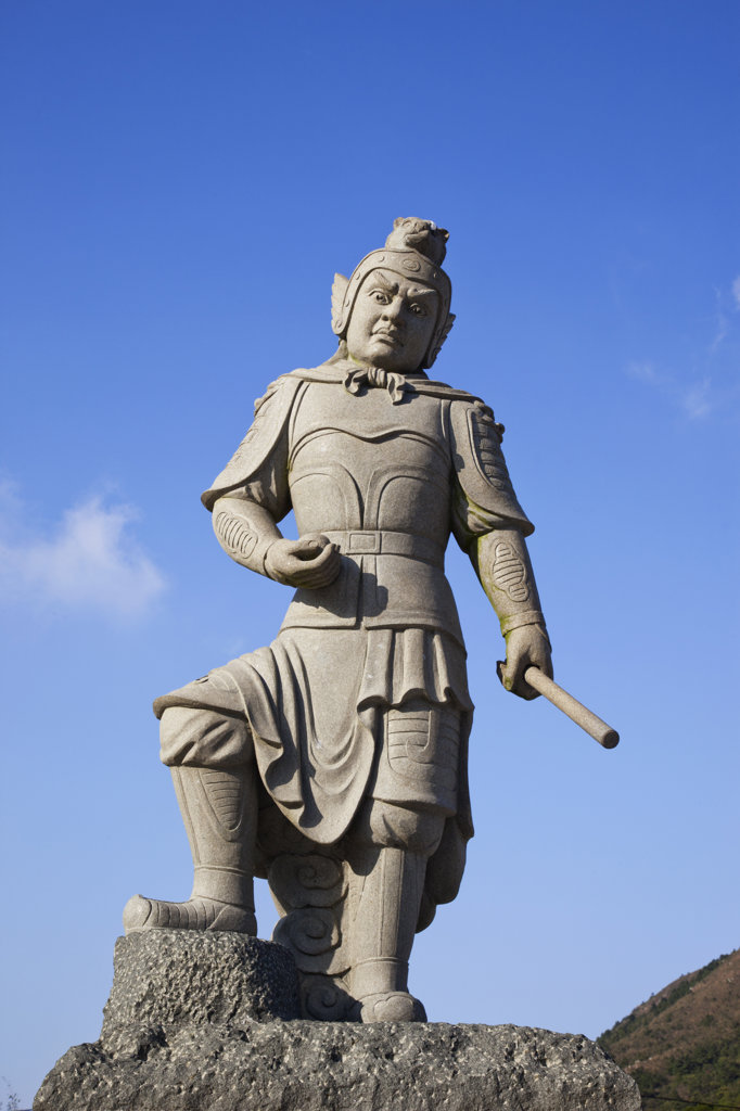Stock Photo: 442-36749 Statue of Divine General, Po Lin Monastery, Ngong Ping, Lantau, Hong Kong, China