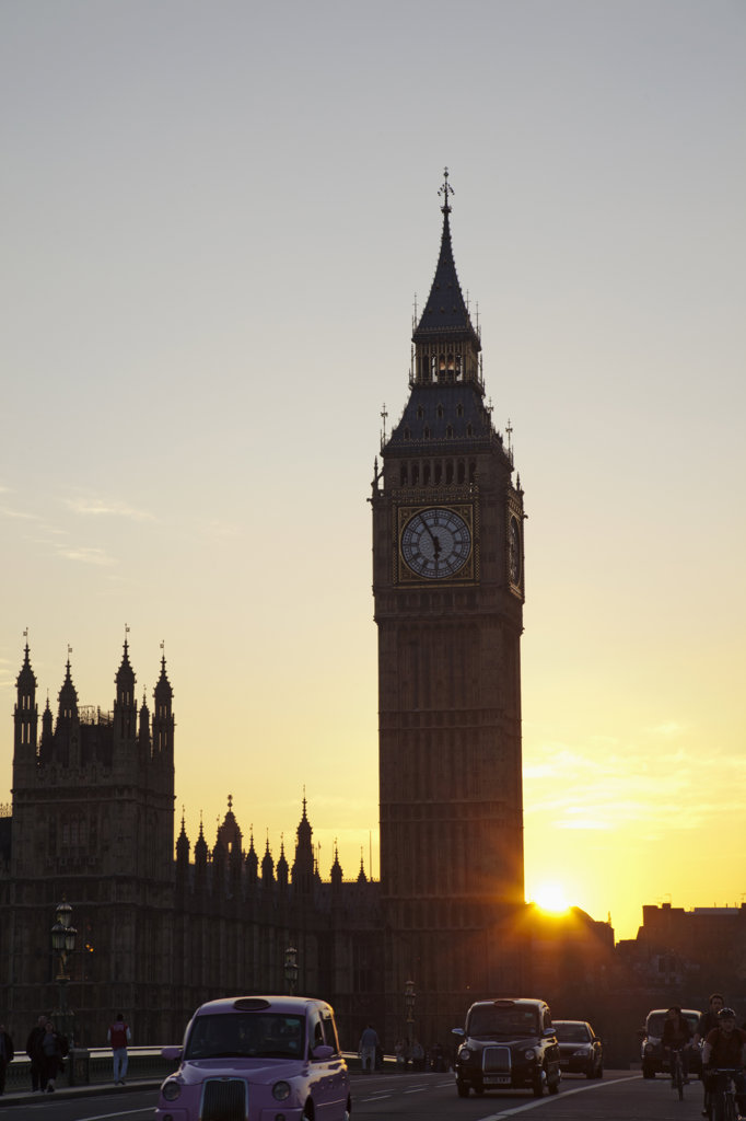 Stock Photo: 442-37404 UK, London, Palace of Westminster and Big Ben