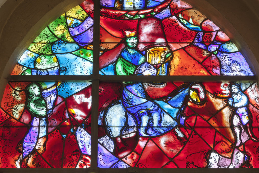 Stock Photo: 442-37685 UK, England, West Sussex, Chichester, Chichester Cathedral, The Marc Chagall Window