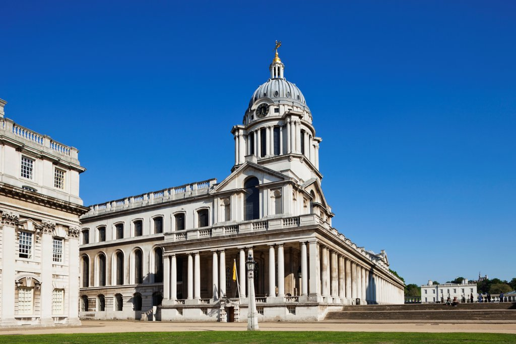 UK, England, London, Greenwich, Old Royal Naval College : Stock Photo
