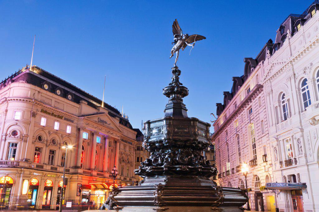 UK, England, London, Soho, Piccadilly Circus, Eros Statue : Stock Photo