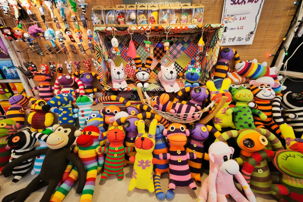 Stock Photo: 442-37963 UK, England, London, Camden, Camden Lock Market, Soft Toys