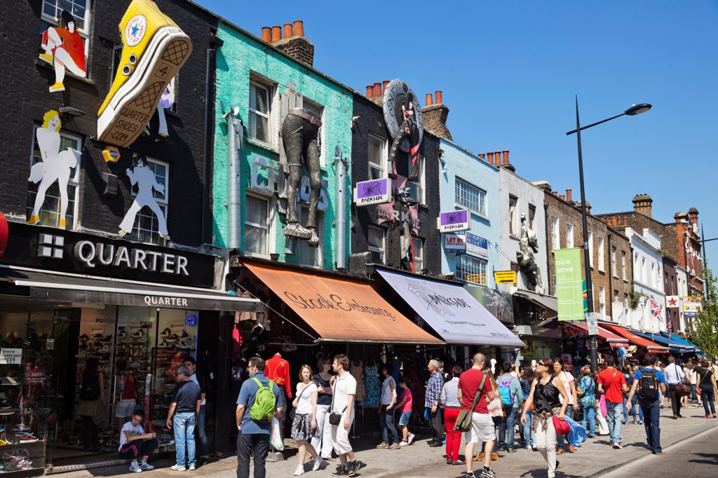 Stock Photo: 442-37972 UK, England, London, Camden, Camden High Street Shops