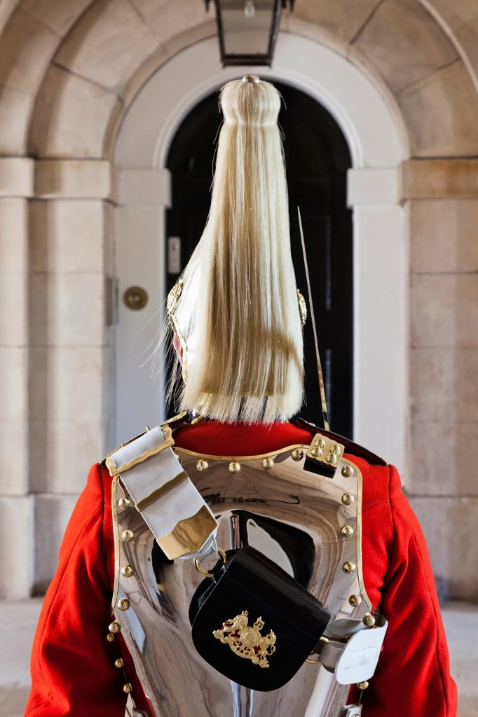 Stock Photo: 442-38015 England, London, Whitehall, Household Cavalry Museum, Horse Guard