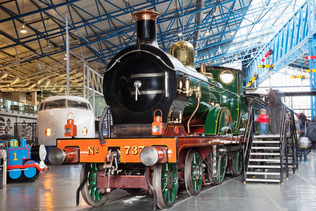 Stock Photo: 442-38039 England, Yorkshire, York, The National Railway Museum