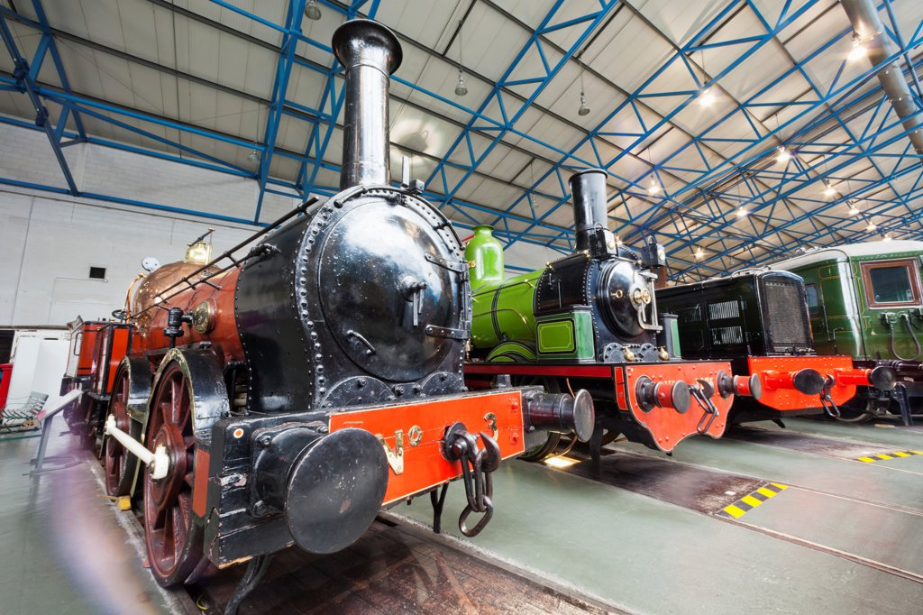 Stock Photo: 442-38042 England, Yorkshire, York, The National Railway Museum, Vintage Steam Locomotives