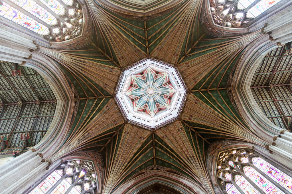 Stock Photo: 442-38057 England, Cambridgeshire, Ely, Ely Cathedral, The Octogon Tower
