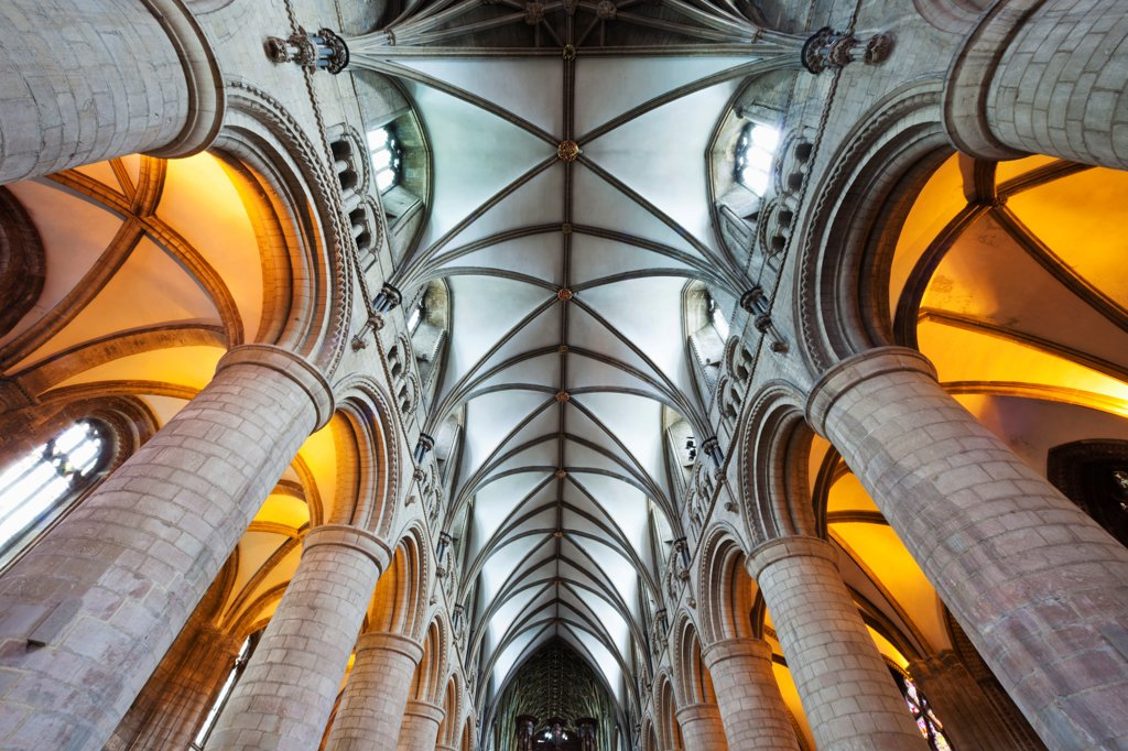 England, Gloucestershire, Gloucester, Gloucester Cathedral : Stock Photo