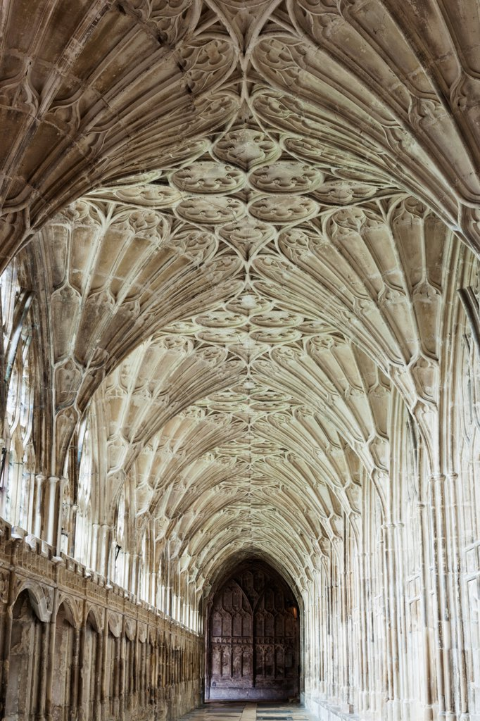 Stock Photo: 442-38076 England, Gloucestershire, Gloucester, Gloucester Cathedral, Cloister