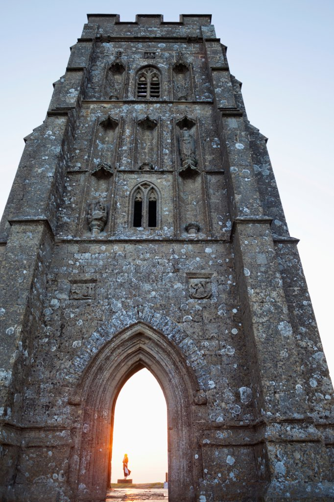 England, Somerset, Glastonbury, Glastonbury Tor : Stock Photo