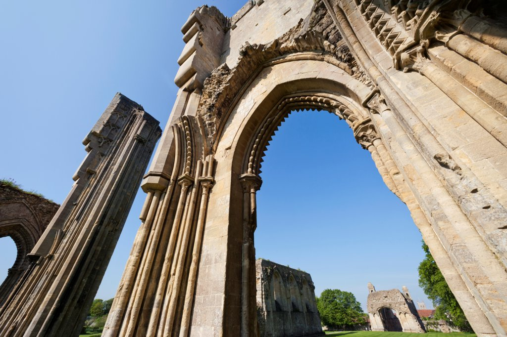 Stock Photo: 442-38102 England, Somerset, Glastonbury, Glastonbury Abbey, The High Altar