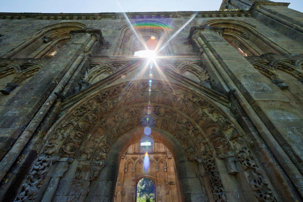 England, Somerset, Glastonbury, Glastonbury Abbey, The Lady Chapel : Stock Photo