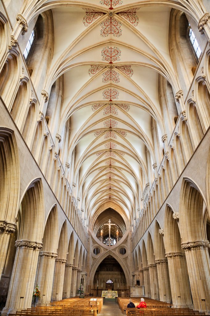 Stock Photo: 442-38118 England, Somerset, Wells, Wells Cathedral