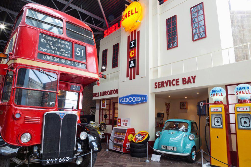 England, Hampshire, New Forest, Beaulieu, National Motor Museum : Stock Photo