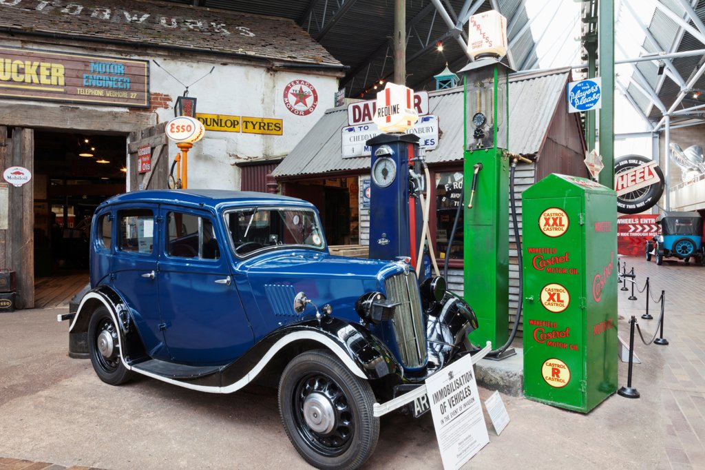 Stock Photo: 442-38193 England, Hampshire, New Forest, Beaulieu, National Motor Museum