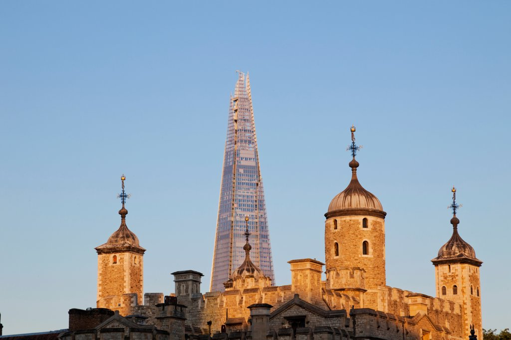 Stock Photo: 442-38225 UK, London, Tower of London and The Shard