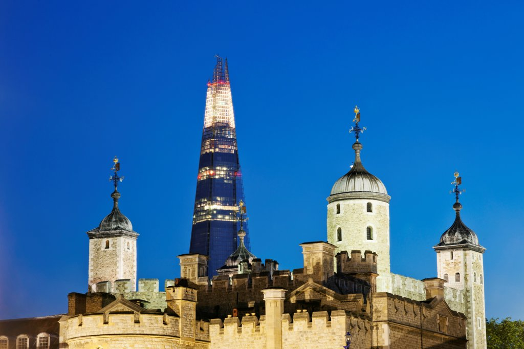 Stock Photo: 442-38229 UK, London, Tower of London and The Shard