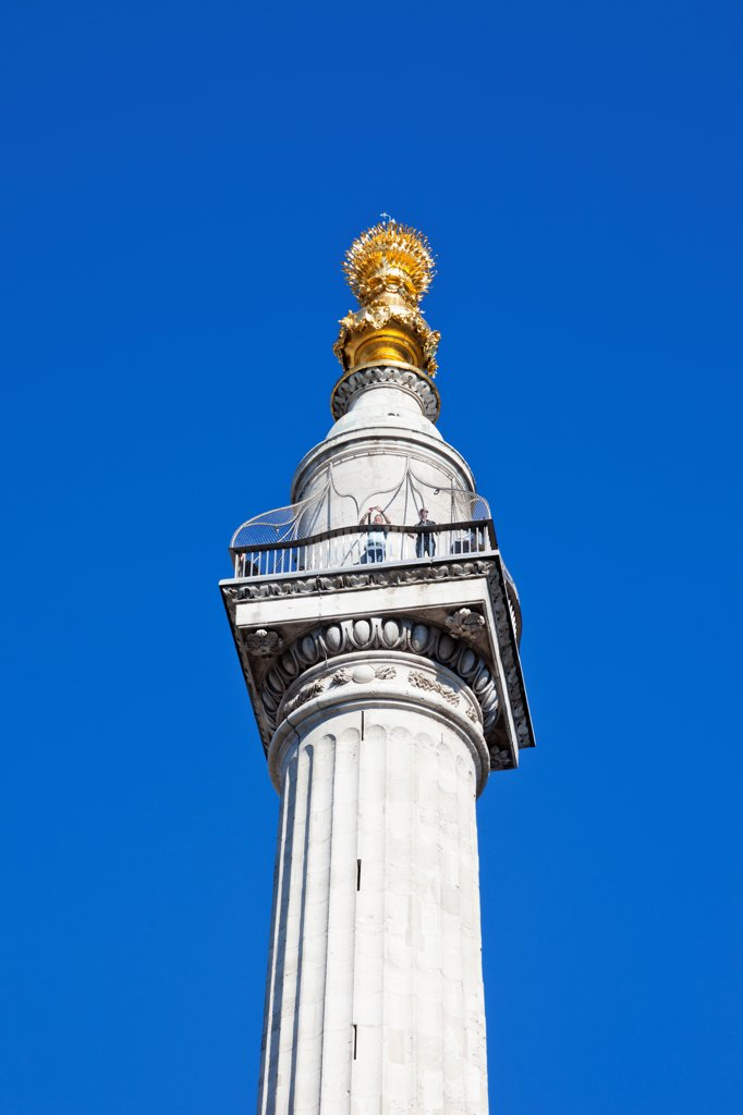 Stock Photo: 442-38247 UK, London, City of London, The Monument