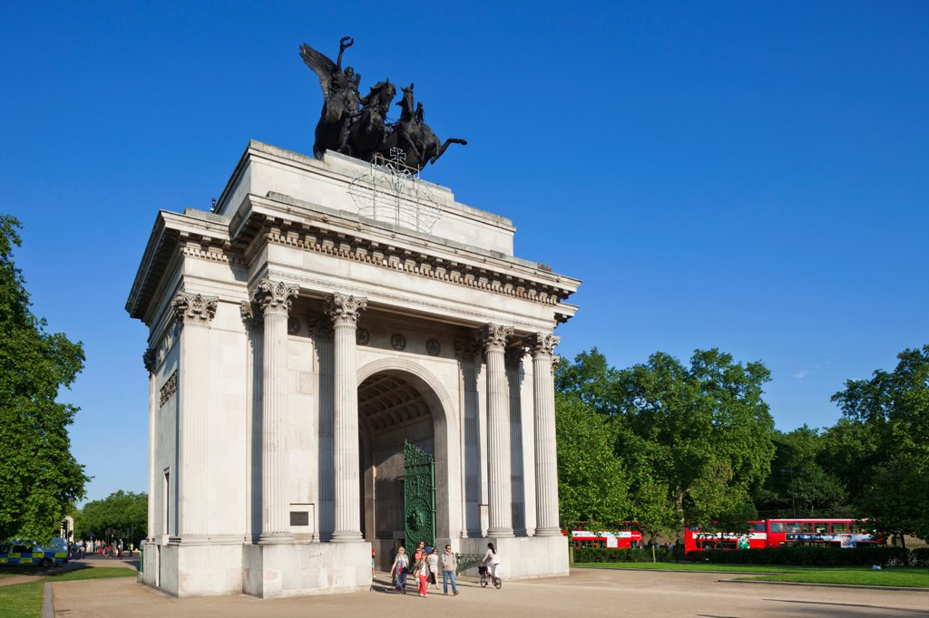 UK, London, Hyde Park Corner, Wellington Arch : Stock Photo