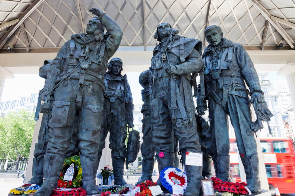 UK, London, Green Park, Bomber Command Memorial : Stock Photo