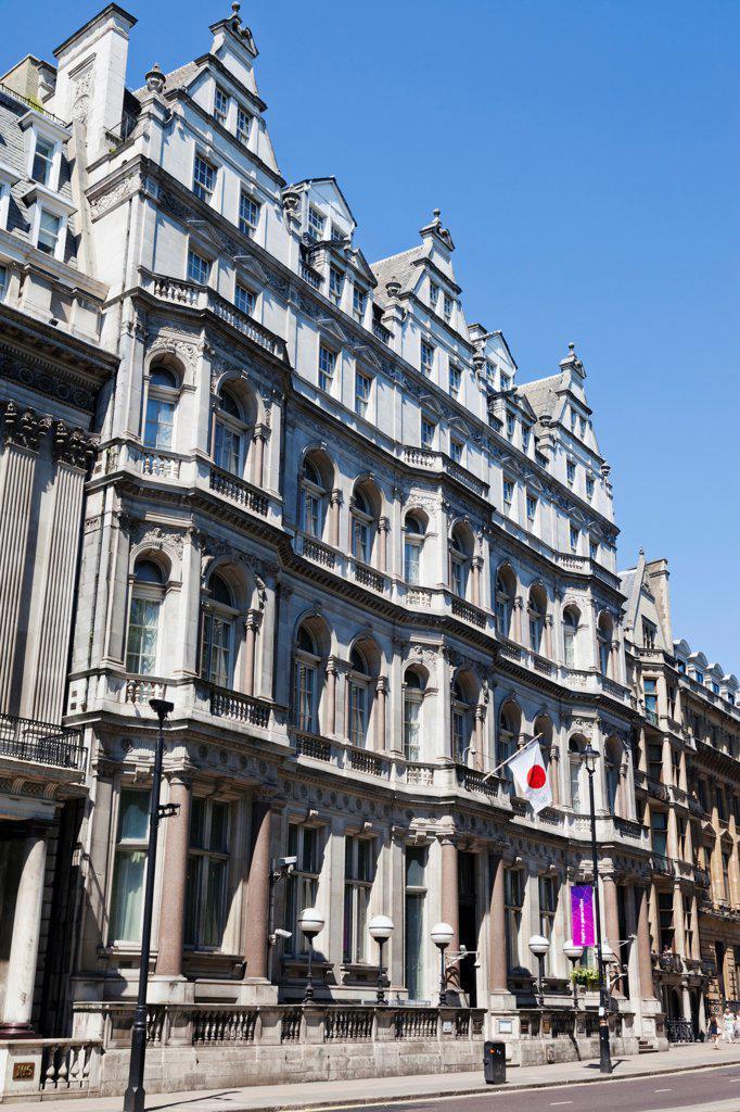 Stock Photo: 442-38254 UK, London, Piccadilly, Japanese Embassy