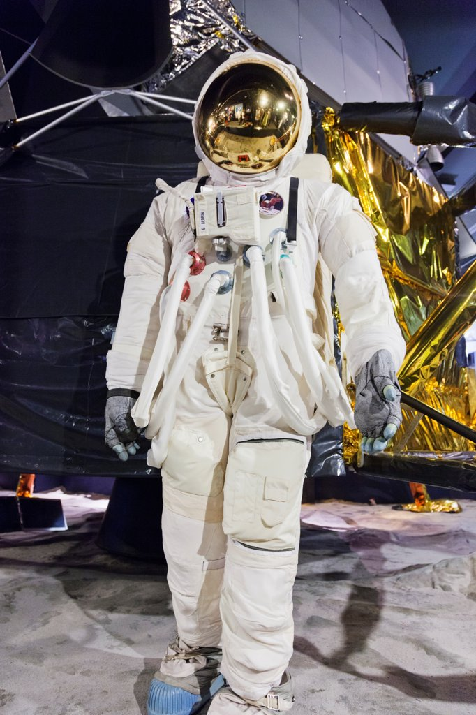 Stock Photo: 442-38301 UK, London, Kensington, Science Museum, Spacesuit