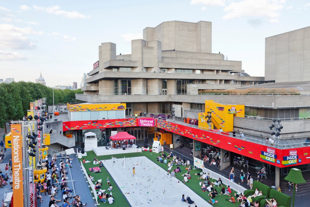 UK, London, Southwark, South Bank, Southbank Centre, National Theatre : Stock Photo