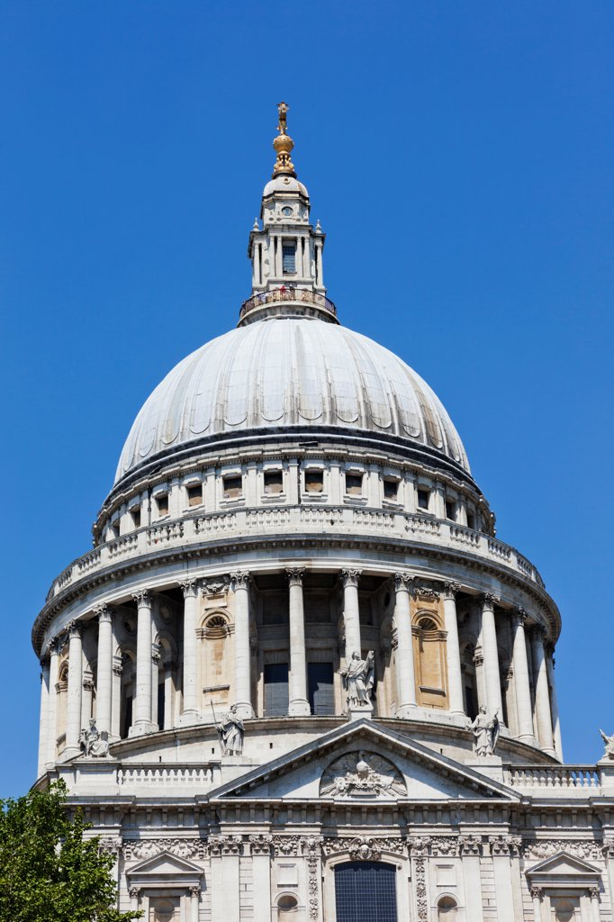 UK, London, City of London, St Paul's Cathedral : Stock Photo