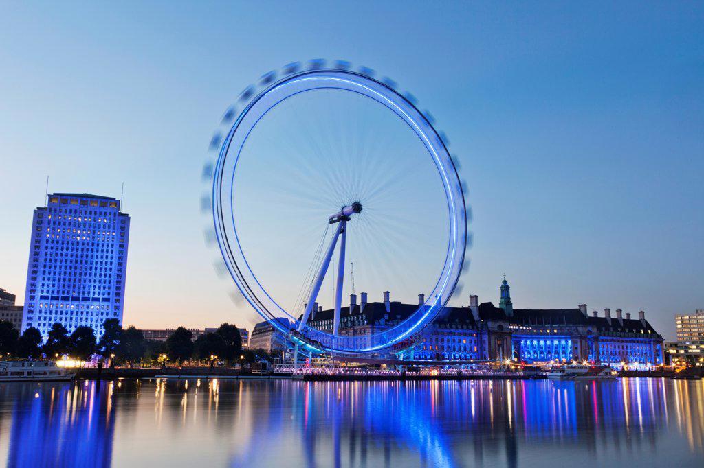 Stock Photo: 442-38326 UK, London, London Eye