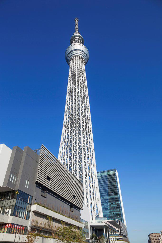 Stock Photo: 442-38700 Japan, Honshu, Kanto, Tokyo, Asakusa, Skytree Tower