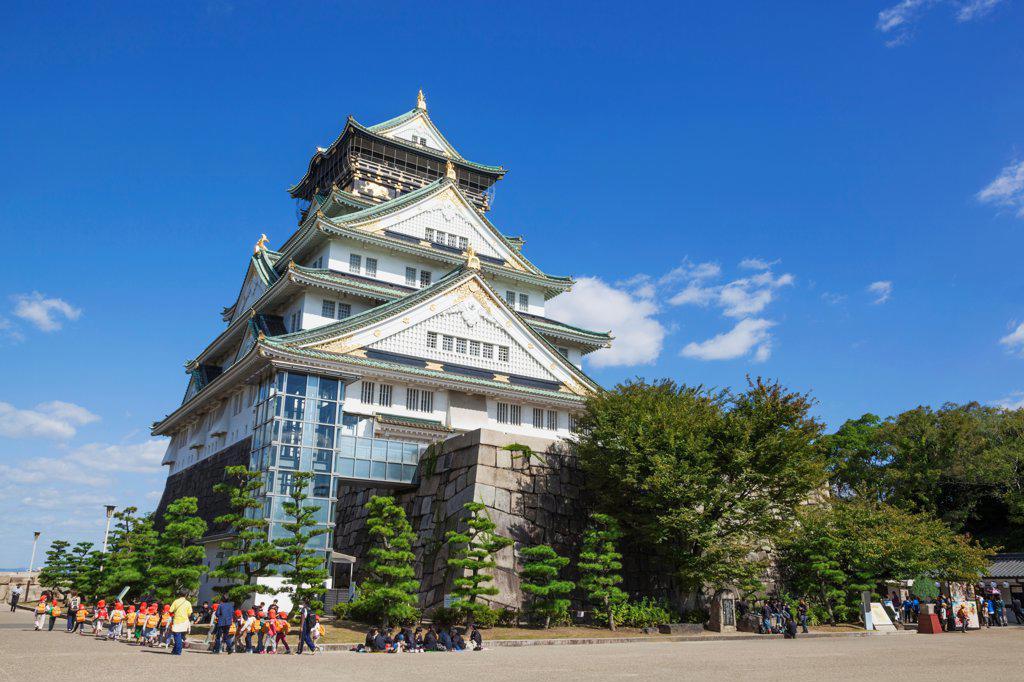 Stock Photo: 442-38722 Japan, Honshu, Kansai, Osaka, Osaka Castle