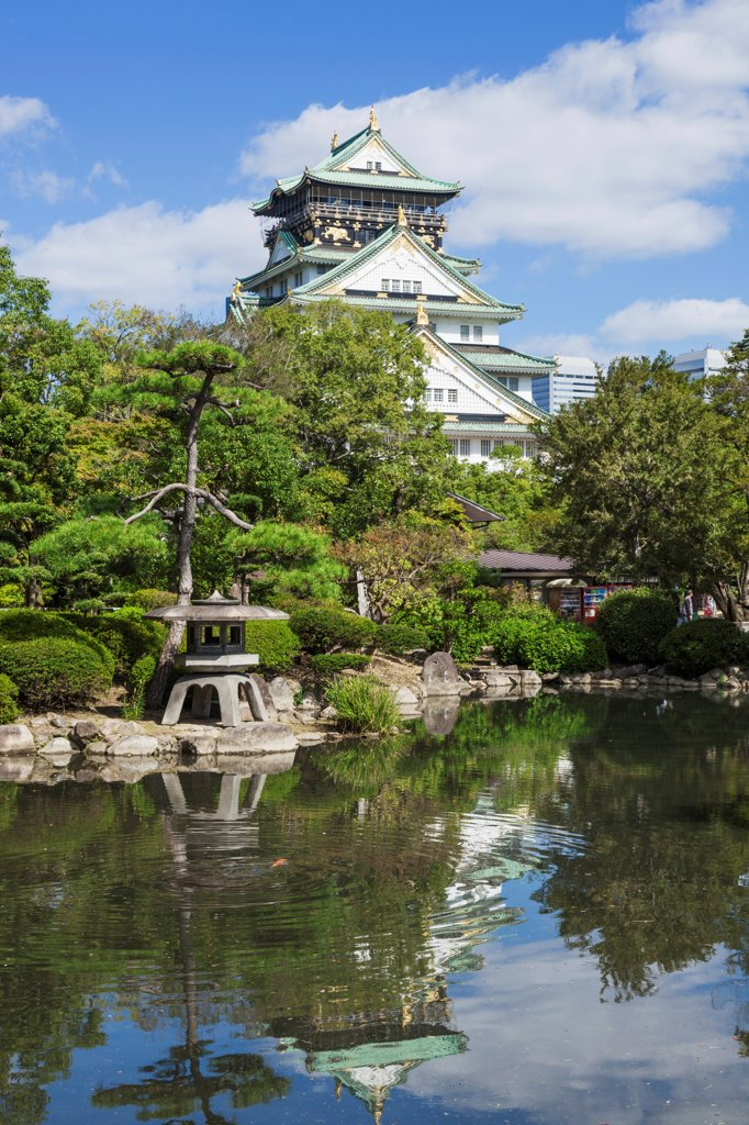 Stock Photo: 442-38723 Japan, Honshu, Kansai, Osaka, Osaka Castle