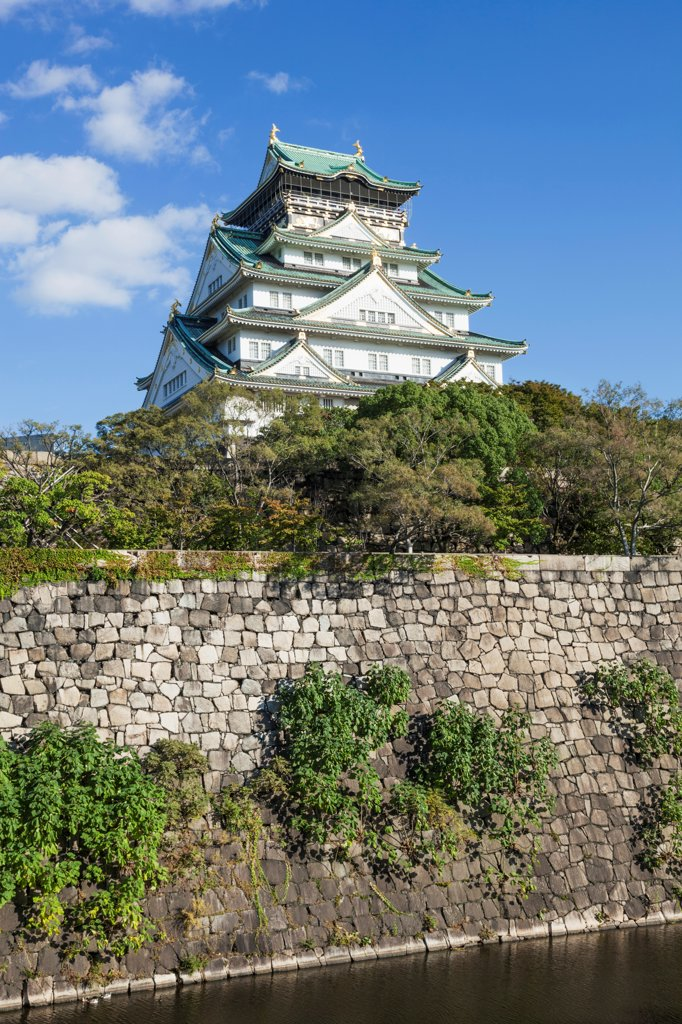Stock Photo: 442-38728 Japan, Honshu, Kansai, Osaka, Osaka Castle