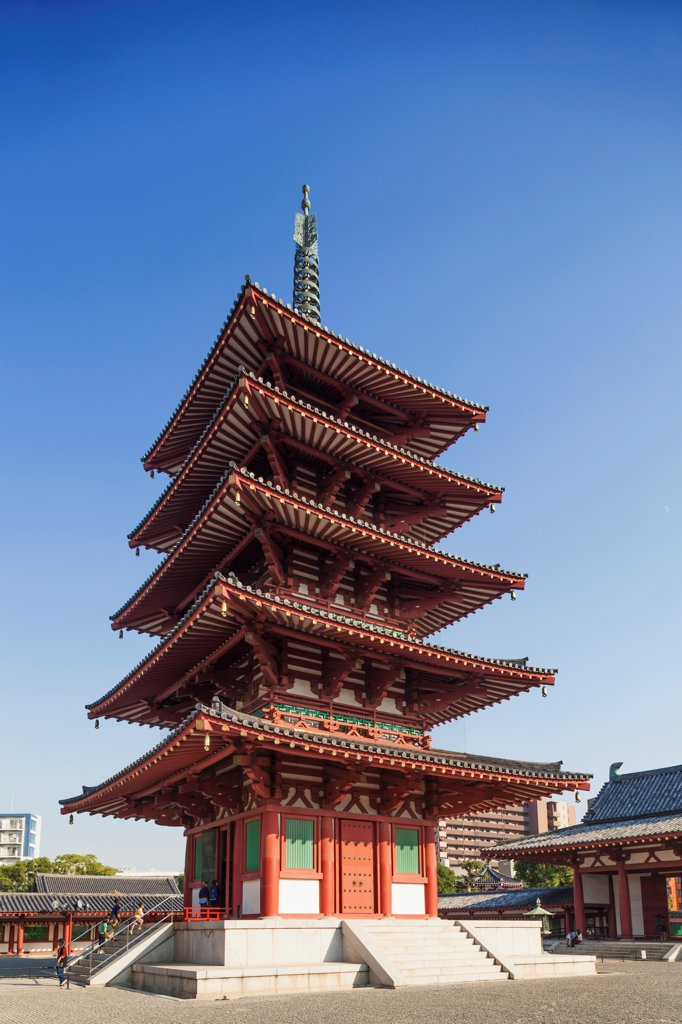 Stock Photo: 442-38786 Japan, Honshu, Kansai, Osaka, Tennoji, Shitennoji Temple