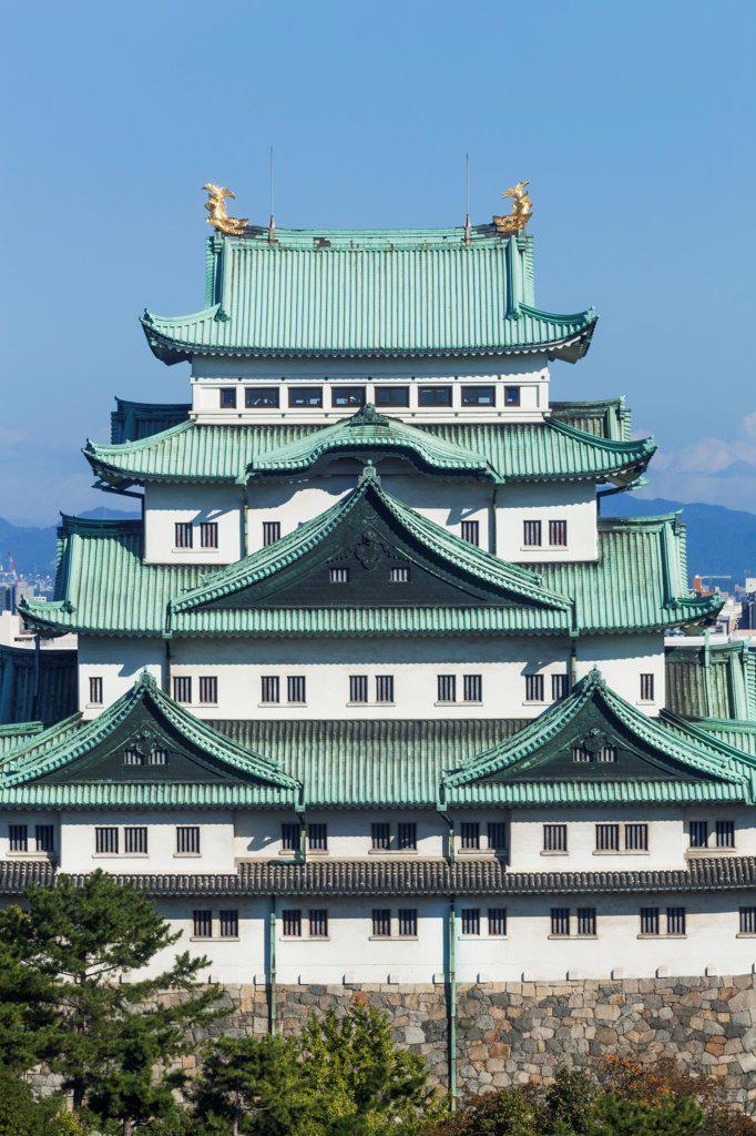 Stock Photo: 442-38817 Japan, Honshu, Aichi, Nagoya, Nagoya Castle