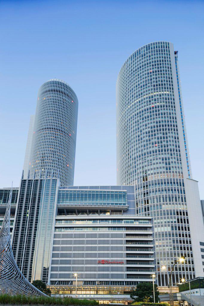 Stock Photo: 442-38836 Japan, Honshu, Aichi, Nagoya, JR Central Towers