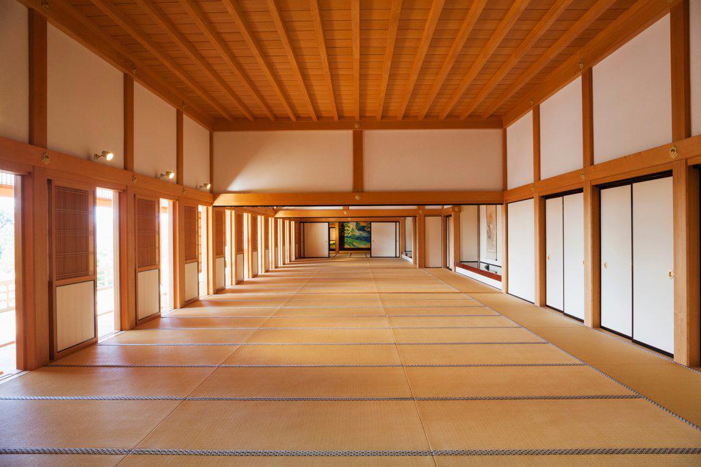 Stock Photo: 442-38927 Japan, Kyushu, Kumamoto, Kumamoto Castle, Hon-Maru Goten Palace, Main Hall