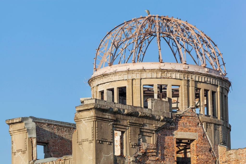 Stock Photo: 442-38932 Japan, Kyushu, Hiroshima, Peace Memorial Park, A-Bomb Dome