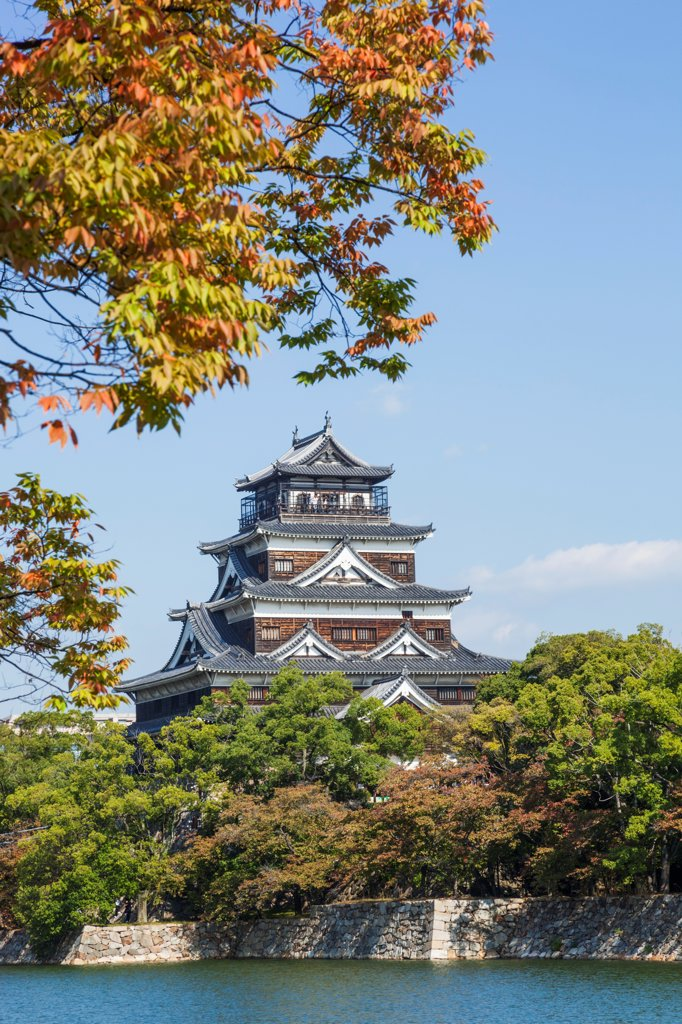 Stock Photo: 442-38951 Japan, Kyushu, Hiroshima, Hiroshima Castle