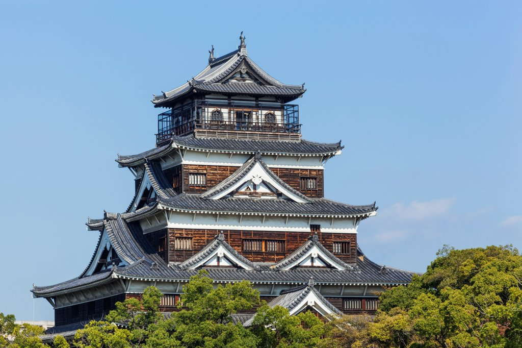 Stock Photo: 442-38954 Japan, Kyushu, Hiroshima, Hiroshima Castle