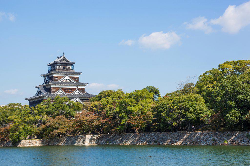 Stock Photo: 442-38955 Japan, Kyushu, Hiroshima, Hiroshima Castle