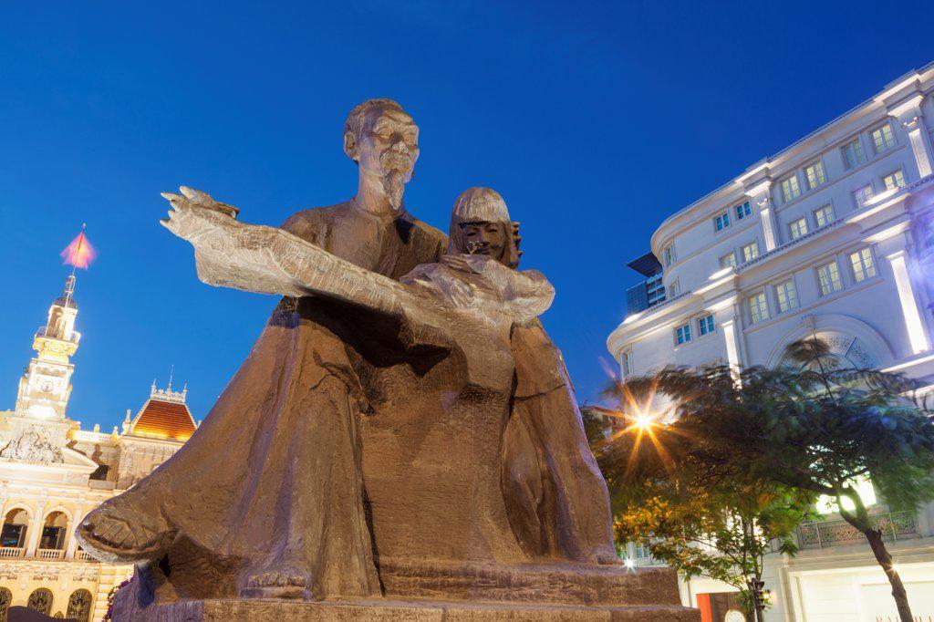 Stock Photo: 442-38963 Vietnam, Ho Chi Minh City, Ho Chi Minh Statue
