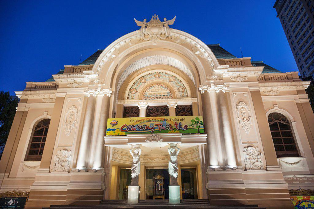 Vietnam, Ho Chi Minh City, Municipal Theatre : Stock Photo