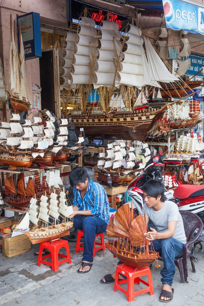 Vietnam, Ho Chi Minh City, Store Selling Model Ships and Boats : Stock Photo