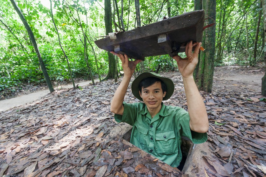 Vietnam, Ho Chi Minh City, Cu Chi Tunnels : Stock Photo